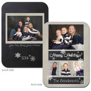 Basic Chalk Frame Holiday Card