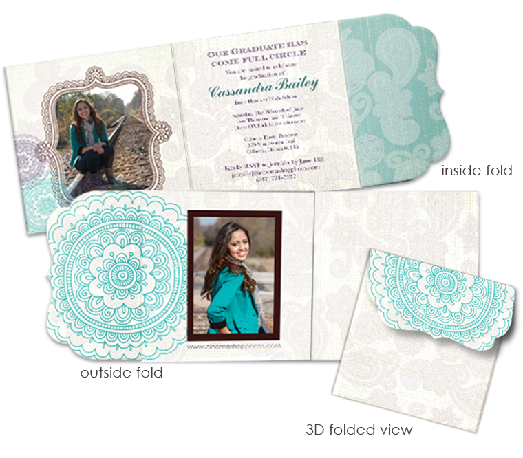 Happy Henna Luxe Graduation Announcement