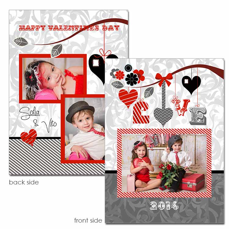 Love Strung Valentine Card template