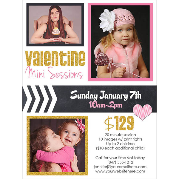 Valentine mini session promo