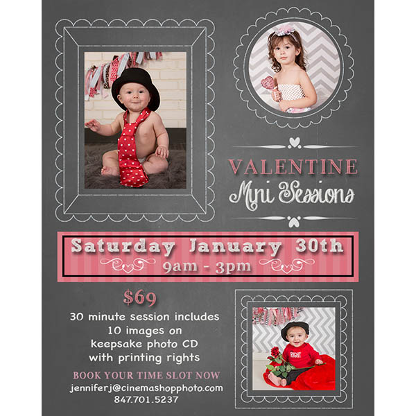Valentine mini session template