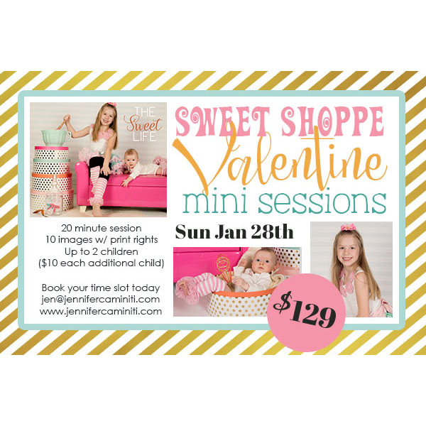 sweet shoppe valentine mini session