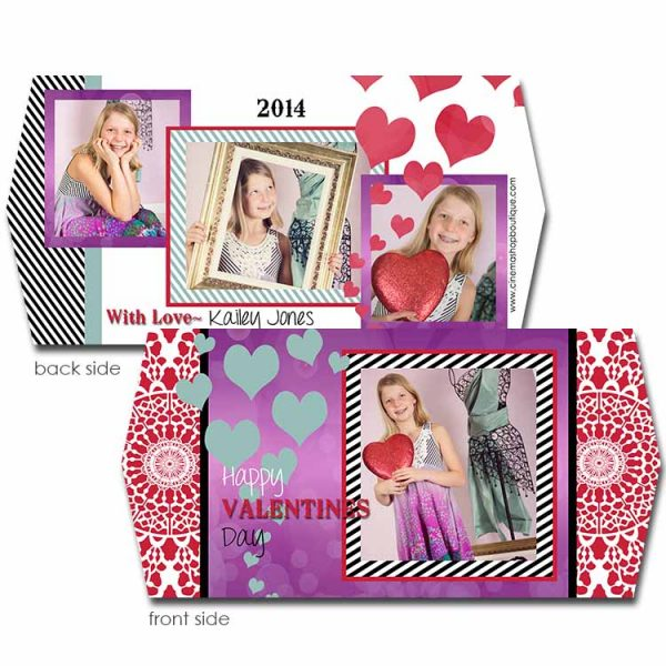 hearts 4x8 valentine card template