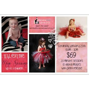 simple valentine mini session template