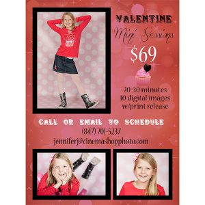 bokeh valentine mini session template