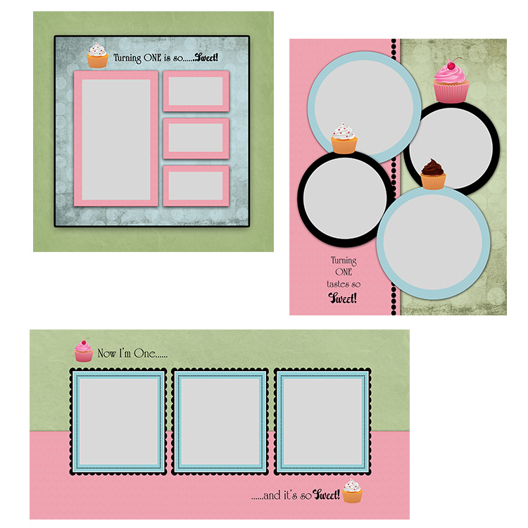 Cupcake Blog Board template