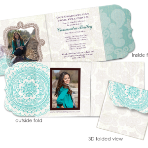Happy Henna Luxe trifold card