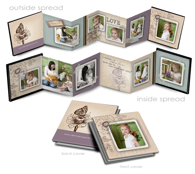 Shabby Chic Mothers Day Accordion Book