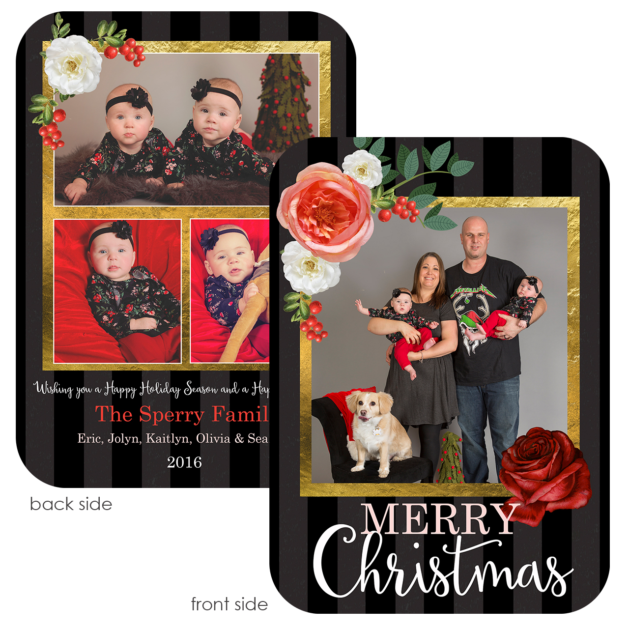 holiday card photoshop template